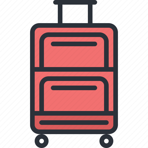 luggage, transport, travel, trolley, vacation icon
