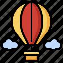 hot, air, balloon, holiday, transportation, vacation, trip