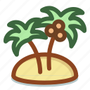 island, palm, summer, travel, vacation icon