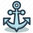 anchor, marine, nautical, ship icon