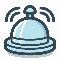 bell, hotel, reception, ring icon