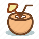 bar, beach, cocktail, coconut, drink, summer icon
