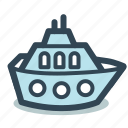 boat, cruise, liner, ship, travel icon