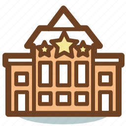 apartments, building, hotel, place, resort icon