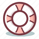 lifebelt, lifebuoy, lifesaver, support icon