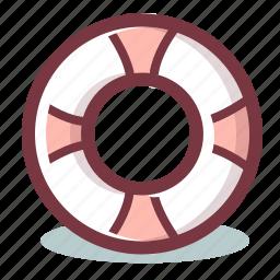 lifebelt, lifebuoy, lifesaver, support icon