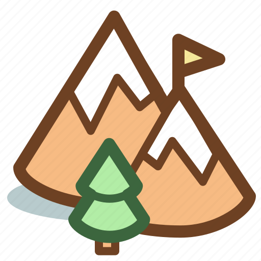 adventure, mountains, nature, travel icon