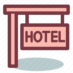 hotel, signboard icon