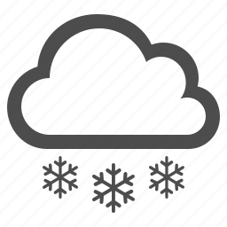 cloud, cloudy, snow, snowflake, snowing, weather, winter icon