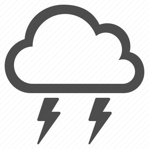 cloud, lightning, lightning bolt, storm, weather icon