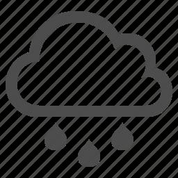 cloud, cloudy, rain, rain drop, raining, weather icon