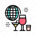 alcoholic, audio, guide, rentals, tour, vacation icon