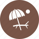 beach, sand, sky, summer, sun, travel, umbrella icon