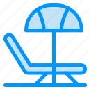 beach, summer, umbrella icon