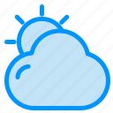 beach, cloud, shinning, sun icon
