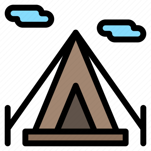 beach, camping, teepee, tent icon