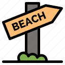 beach, sign, travel, vacation icon