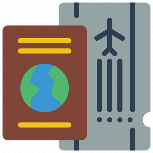 documents, holiday, passport, tickets, vacations icon