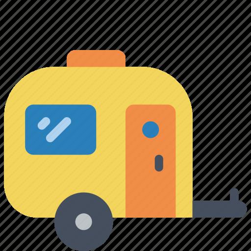 camp, caravan, holiday, motor home, vacations icon