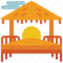 beach, holiday, hut, sun, vacations icon
