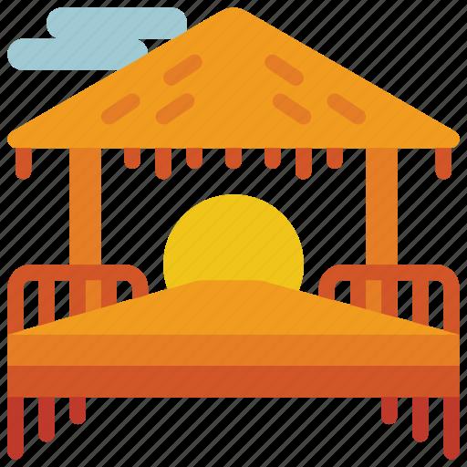 beach, holiday, hut, sun, vacations icon