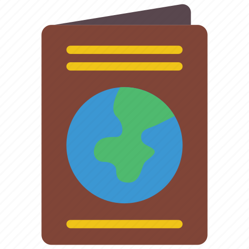documents, flight, holiday, passport, vacations icon