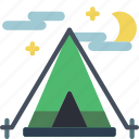 camp, camping, holiday, tent, vacations icon