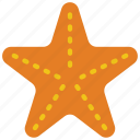 beach, fish, holiday, sea, star, vacations icon