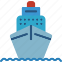 boat, cruise, holiday, ship, tour, vacations icon