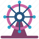 carnival, ferris, holiday, ride, vacations, wheel icon