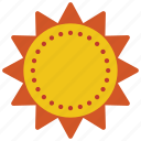 holiday, sun, sunshine, vacations, weather icon