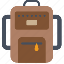 backpack, bag, holiday, rucksack, vacations icon