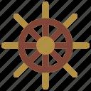 boat, cruise, holiday, sailing, ships, vacations, wheel icon