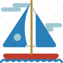 sailing, schooner, vacations, yacht icon