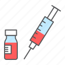 syringe, vial, injection, vaccine, vaccination, drug, covid-19