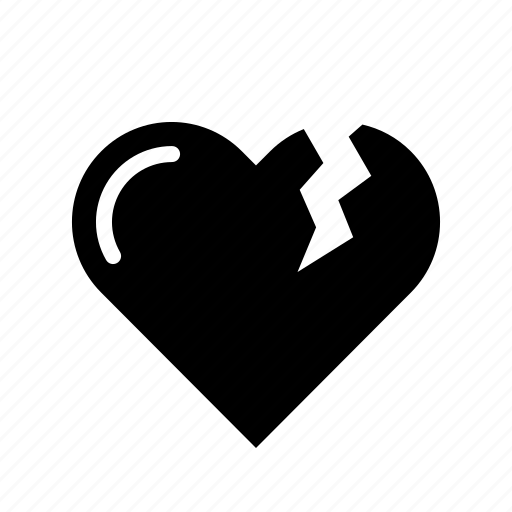 bakeup, break, heart, love, reject, relation, valentine icon