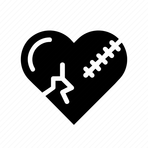 bakeup, break, heal, heart, love, reject, relation icon