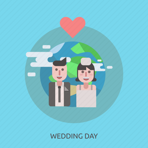face, girl, man, marry, people, romantic, wedding day icon