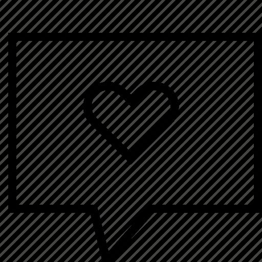 bubble, love, message, talk, valentine icon