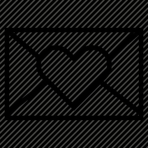 email, love, message, send, valentine icon