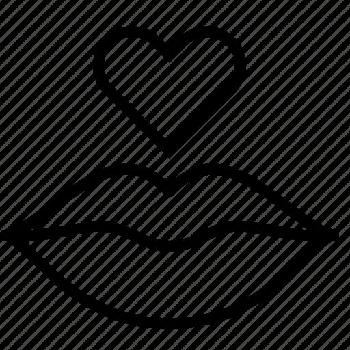 Heart, kiss, lip, love, valentine icon - Download on Iconfinder