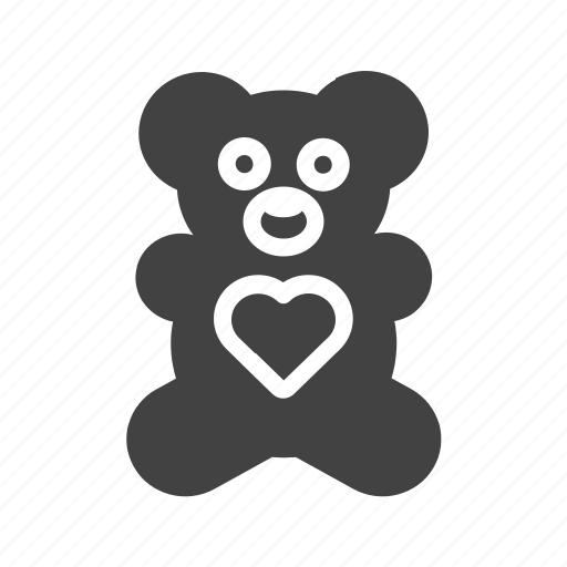 Bear, childhood, love, teddy, toy, valentine, valentines gift icon - Download on Iconfinder