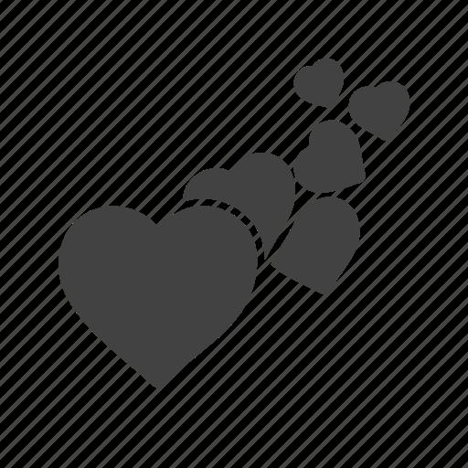 hearts, like, love, romance, romantic, valentine, valentine gift icon