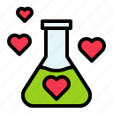 chemical, chemistry, heart, love, valentine icon