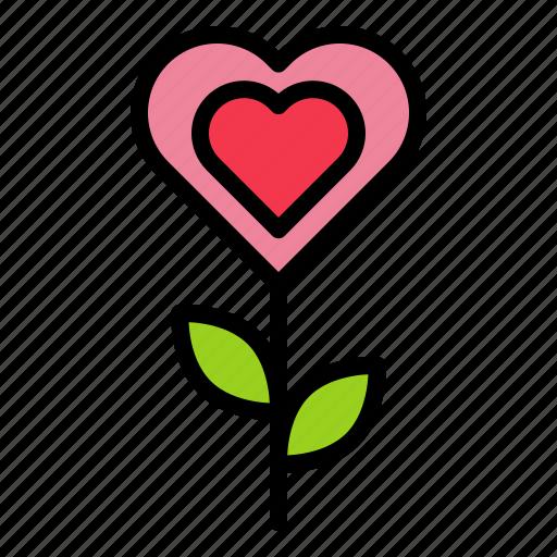 flora, floral, flower, love, valentine icon