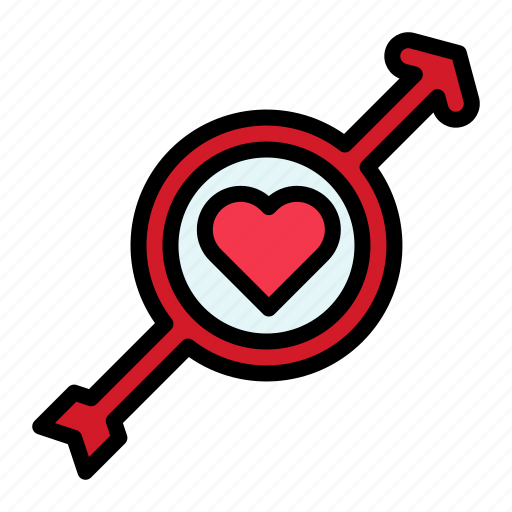 arrow, heart, love, male, valentine icon