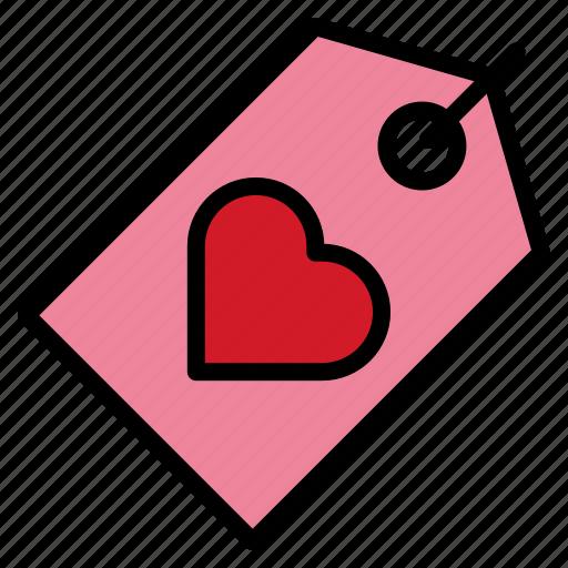 heart, love, tag, valentine icon