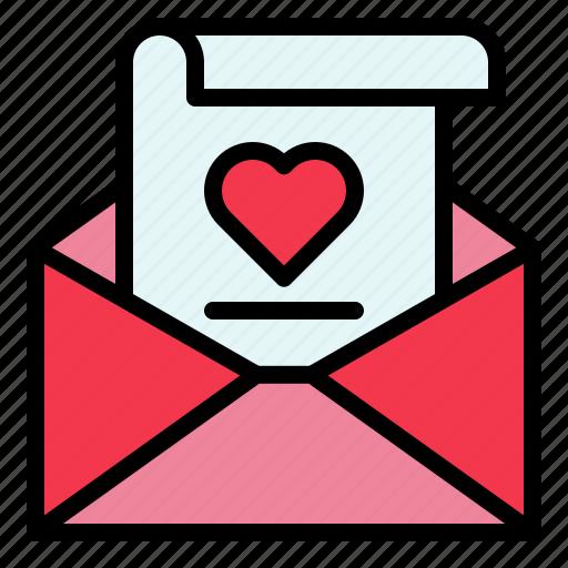 envelope, letter, love, mail, valentine icon
