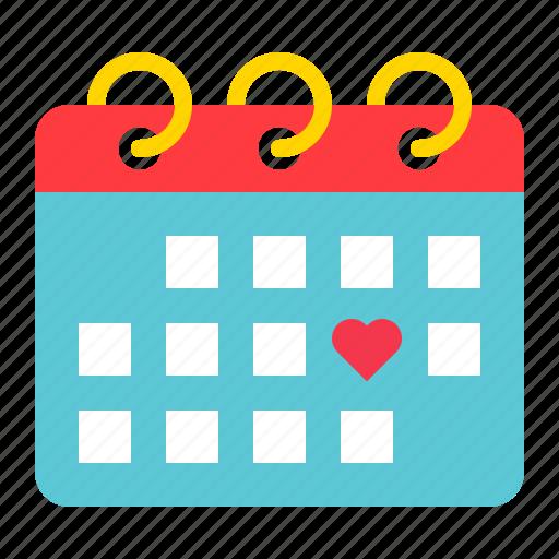 appointment, calendar, date, love, romance, valentine icon