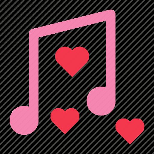 love, music, music note, note, romance, valentine icon
